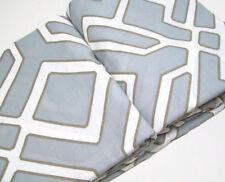 Pottery Barn Gray Multi Colors Shelby Linen Cotton Full Queen Duvet Cover New