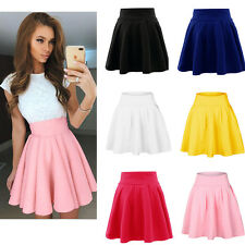 Sexy Womens Hight Waist Skirts Cocktail Party Pleated Mini Skater Bottom Dress