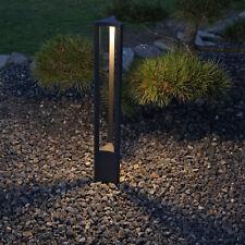 Designer Pollerleuchte Garten LED Stehlampe aussen anthrazit Alu Wegeleuchte