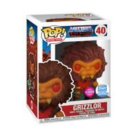 GRIZZLOR FLOCKED FUNKO SHOP EXCLUSIVE POP MASTERS OF THE UNIVERSE #40 PRE ORDER