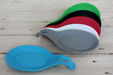 Silicone Spoon Rest Heat Resistant Teabag Tidy Holder Cooking Utensil Dish