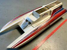 New ListingVintage Large 41 inch Country Boy A600 Hydroplane Gas Engine Rc Boat
