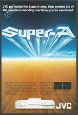 JVC Super-A Amplifier 1980 Vintage Print Ad