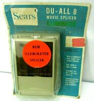 Vintage Sears Du-All 8 Movie Film Splicer Illuminated New In Package Deadstock