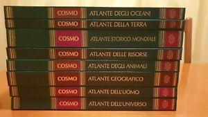 Enciclopedia Cosmo 8 Volumi-De Agostini storia mondiale,animali,geografia,oceani
