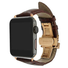 42/44mm 38/40mm Strap Band Genuine Leather Apple Watch Series1-4 Croco Wristband