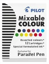 Pilot Parallel Ink Cartridges in Assorted Colors - Pack of 12 NEW in box
