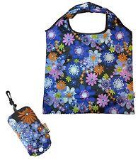 Soake Daisy Splash Foldaway Reusable Shopping Bag Push Button Closure Pouch