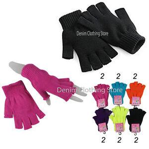 12 Pairs Men Women Winter Warm Knitted Fingerless Half Finger Magic Gloves  Lot