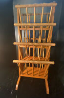 Vintage 4 Tier Wood Spindle Magazine Rack 1930