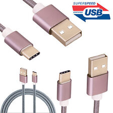 USB Type C 3.1 Fast Data Charger Cable Braided Lead for Samsung Galaxy S8 S8+