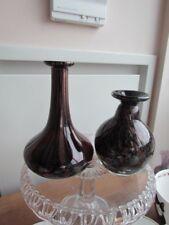 Murano Italian  Glass Vases hand Blown Lot Aventurine  Fleck Controlled Bubble