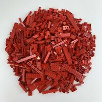 Lego Red Bricks/Blocks Parts 1 Kilo Bundle Fire, City, Classic, Expert, Town