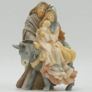 Foundations Holy Family Riding Donkey Ornament Retired 4058698
