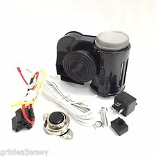 Universal Dual Tone Compact Air Horn 139dB 12V w/ Button & Installation Kit