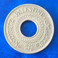 Israel Palestine British Mandate 5 Mils 1934 Coin XF Key Date