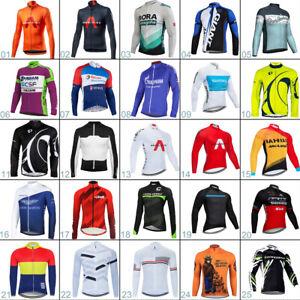 Mens Cycling Jersey Long Sleeve Cycling Tops Reflective Bike Jersey  Bike Shirts