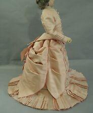 "Superb Antique Silk French Fashion Dress for 18-20"" doll"