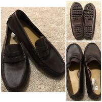 Cole Haan Mens Grant Canoe Penny Loafers Driving Shoes 8.5 Brown Leather C12133