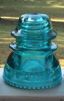 Antique Vintage Hemingray No 42 Predrilled Glass Insulator DIY Light Lamp