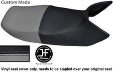 BLACK AND GREY VINYL CUSTOM FITS HONDA PAN EUROPEAN ST 1100 DUAL SEAT COVER ONLY