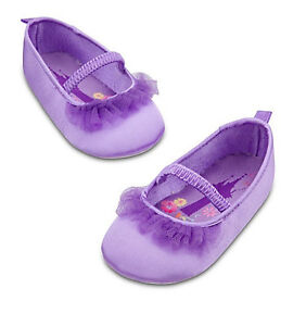 Disney Authentic Rapunzel Purple Baby Shoes 2 Years Tangled Princess Dress Up