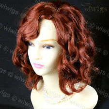 Lovely Short Wig Curly Copper Red Summer Style Ladies Wigs From WIWIGS UK
