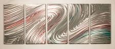 Metal Wall Art Abstract Modern Sculpture 5 Panel Elegant