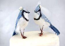 Blue Jay Bride & Bride Lesbian Love Birds: Handmade Gay Wedding Cake Topper