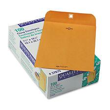Quality Park Clasp Envelope 7 1/2 x 10 1/2 28lb Brown Kraft 100/Box 37875