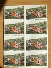 Banksy Greenpeace Save or Delete, Original uncut  A4 sticker sheet