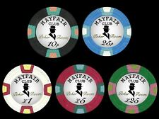 More details for 500 mayfair club 10g pure clay casino poker chips only