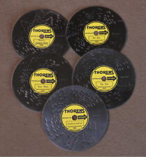 """Thorens music box 4.5"""" """"Henstooth"""" 5-disc Ad30 music collection."""
