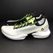 Reebok Sole Fury White/Black Neon Red/Lime Running Shoes DV4482 Men's Size 11