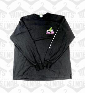 Black Long Sleeved 'Pura Vida' Tshirt   2XL