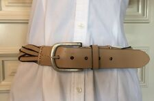 Esprit Woman's Belt Genuine Leather Size Medium Color Beige