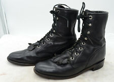 Justin Boots L0620 Women's Sz 7 Leather Granny PACKER Lacer Western Riding Boots