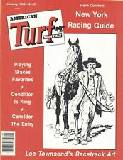 American Turf Monthly Magazine 1982 Jan Lee Townsend Racetrack Art NY Racing