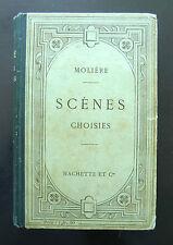 MOLIERE - SCENES CHOISIES - Introduction-Notes de E. THIRION Ed HACHETTE Cie1908