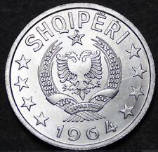 Albania 50 Qindarka, 1964 Gem Unc~Only Year Ever~Scarce~Free Shipping