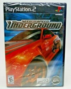 Need for Speed: Underground (Sony PlayStation 2 PS2) Black Label FACTORY SEALED!
