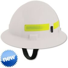 AMERICANA RATCHET FULL BRIM MRT WILDLANDS FIREFIGHTER HARD HAT WHITE  ST19751