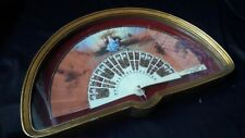 ANTIQUE HAND FAN CELLULOID FABRIC HANDPAINTED SIGNED VICTORIAN COUPLE WOODEN BOX
