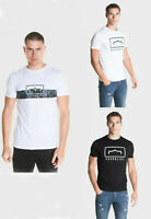 883 Police Mens Designer Cotton Crew Neck Graphic Printed Casual Top T Shirt Tee