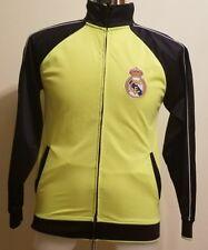 Real Madrid Full Zip Up Sweatshirt Jacket Lime Green Neon Yellow Men's Small S
