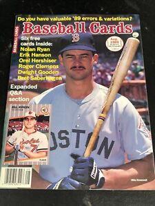 August  1989 Baseball Cards Magazine 6 Card Insert Ryan Clemens Saberhagen MINT