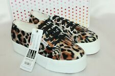 New listing NEW NIB! SUPERGA Leopard Velvet FAN 2790 Platform Sneakers Tennis Shoes 7.5 EU38