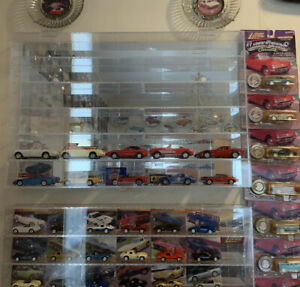 Acrylic Mirror Back Display Case for 30 1:43 Scale Cars or 24 1:32 scale cars.