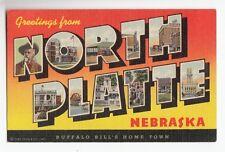 [49054] OLD LARGE LETTER POSTCARD GREETINGS FROM NORTH PLATTE, NEBRASKA