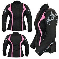 Ladies Women Motorcycle Motorbike Cordura Waterproof Jacket Coat Collection 3xl Size 20 All Black